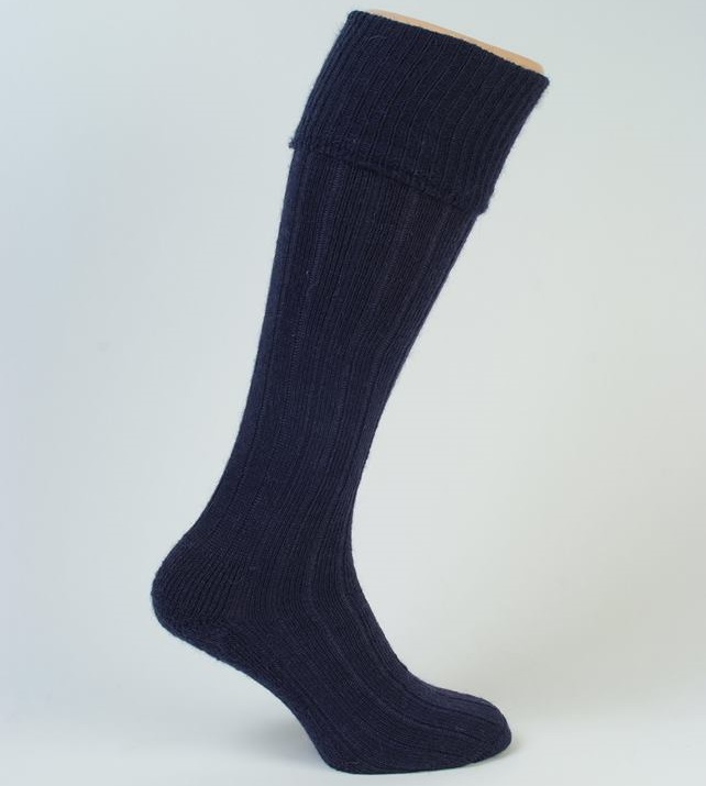 Long Mohair Sock with a turnover top