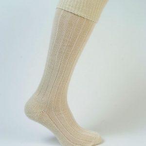 Long Cream Mohair sock - Northumberland