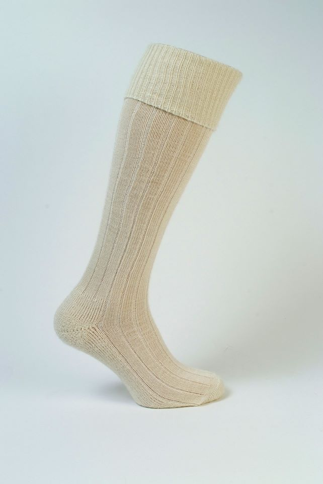 Long Cream Mohair sock